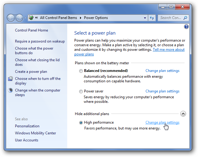 Disable Power Management On Windows  Or Vista  My Favorites