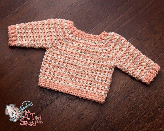 Newborn Cheer Sweater Free Crochet Pattern | Crochet projects ...