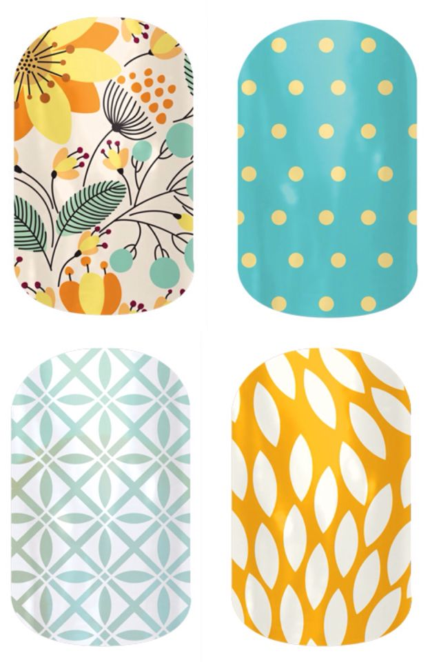 Sweet Whimsy, Teal Mini Polka, So Fresh, Sunny Lotus. They're buy 3 get 1 free! http://nikjams.jamberrynails.net