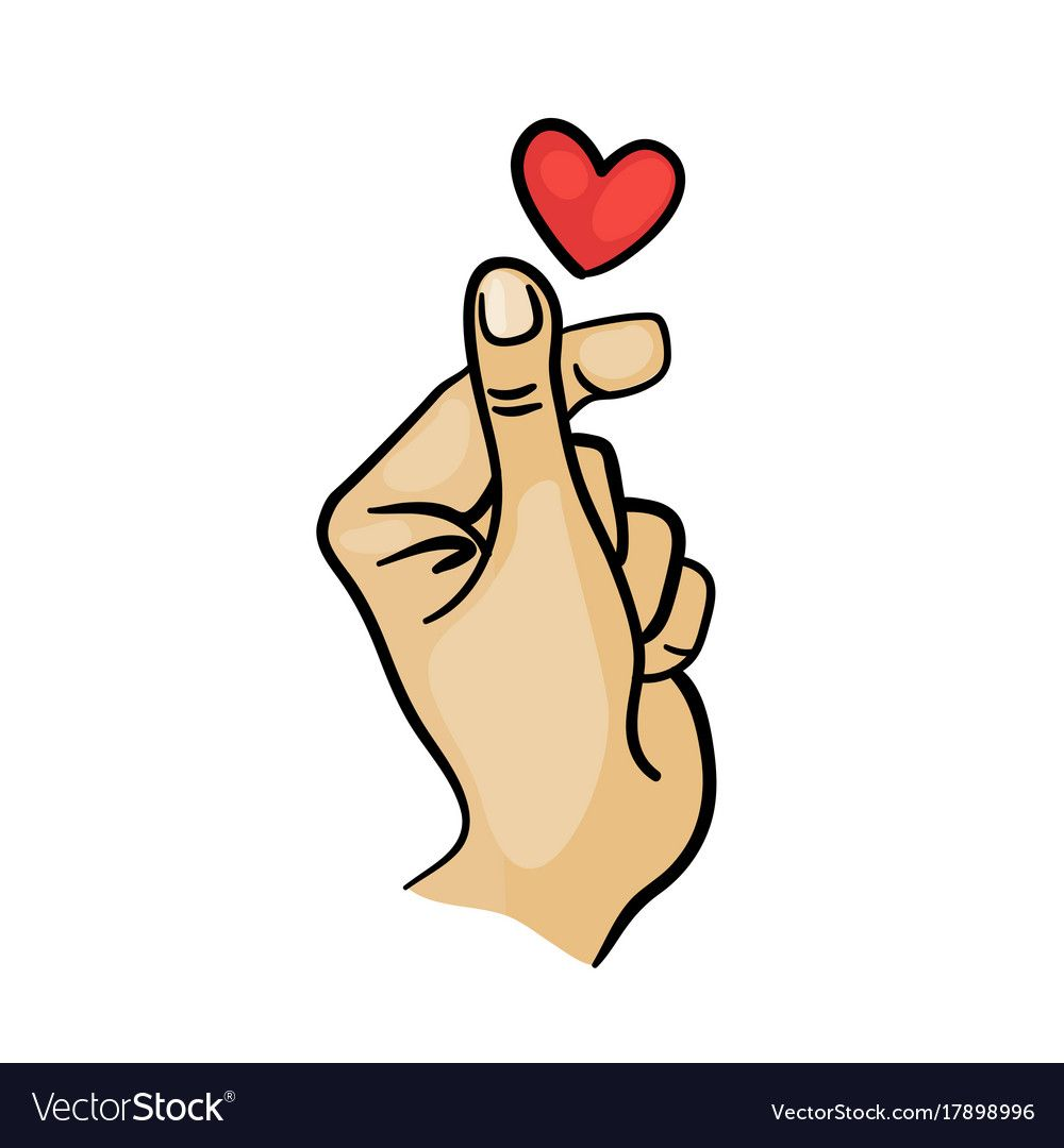 Download Korean finger heart i love you hangul vector image on ...