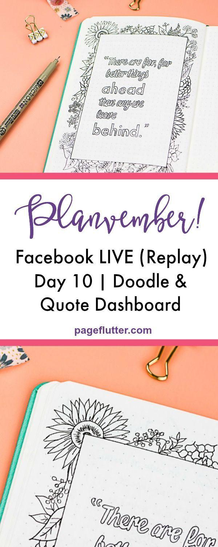 Planvember day bullet journal and doodles