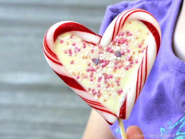 Candy canes and white chocolate - can it really be this easy? Well - kind of! Read the post and find out!  http://papervinenz.blogspot.co.nz/2012/02/valentines-sweet-treats.html