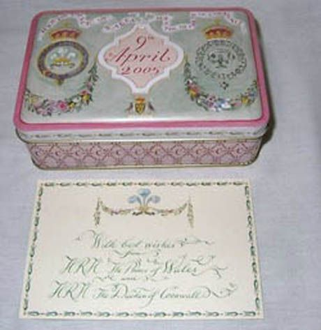 Charming Charles And Camillau0027s Wedding Cake Was Mailed In A Tin, Rather Than The  Customary Cardboard