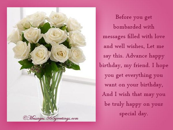 Advance Birthday Wishes Messages and Greetings – Greeting Messages for Birthday