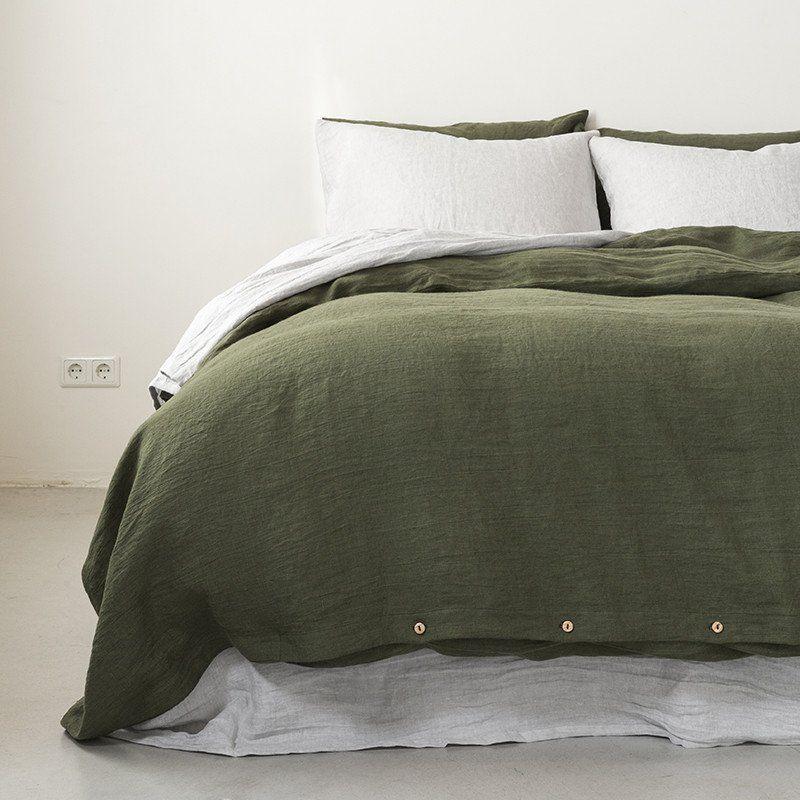 Linen Duvet Cover Moss Green Duvet Cover Master Bedroom Bed