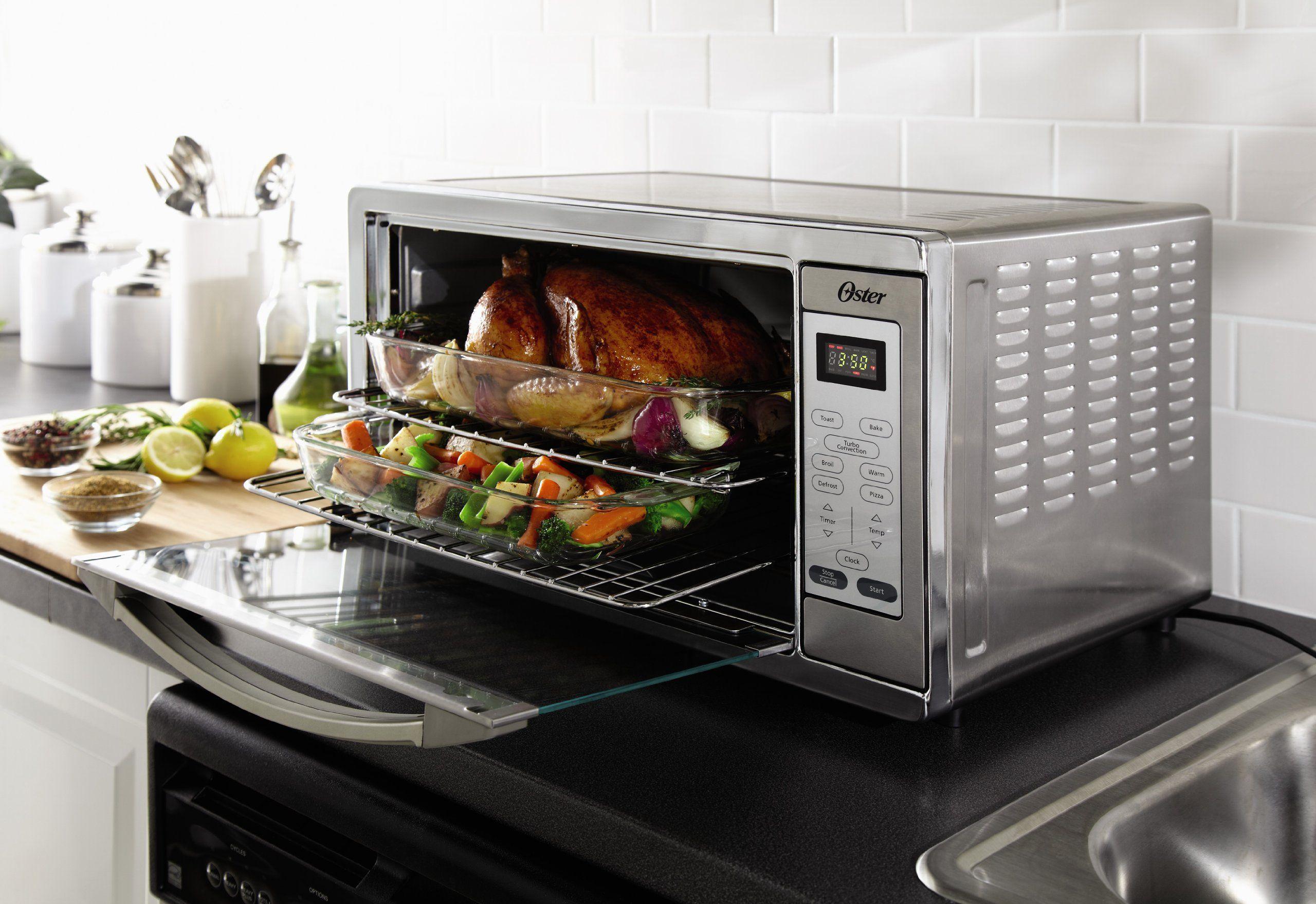 Amazon Com Oster Tssttvxldg Extra Large Digital Toaster Oven