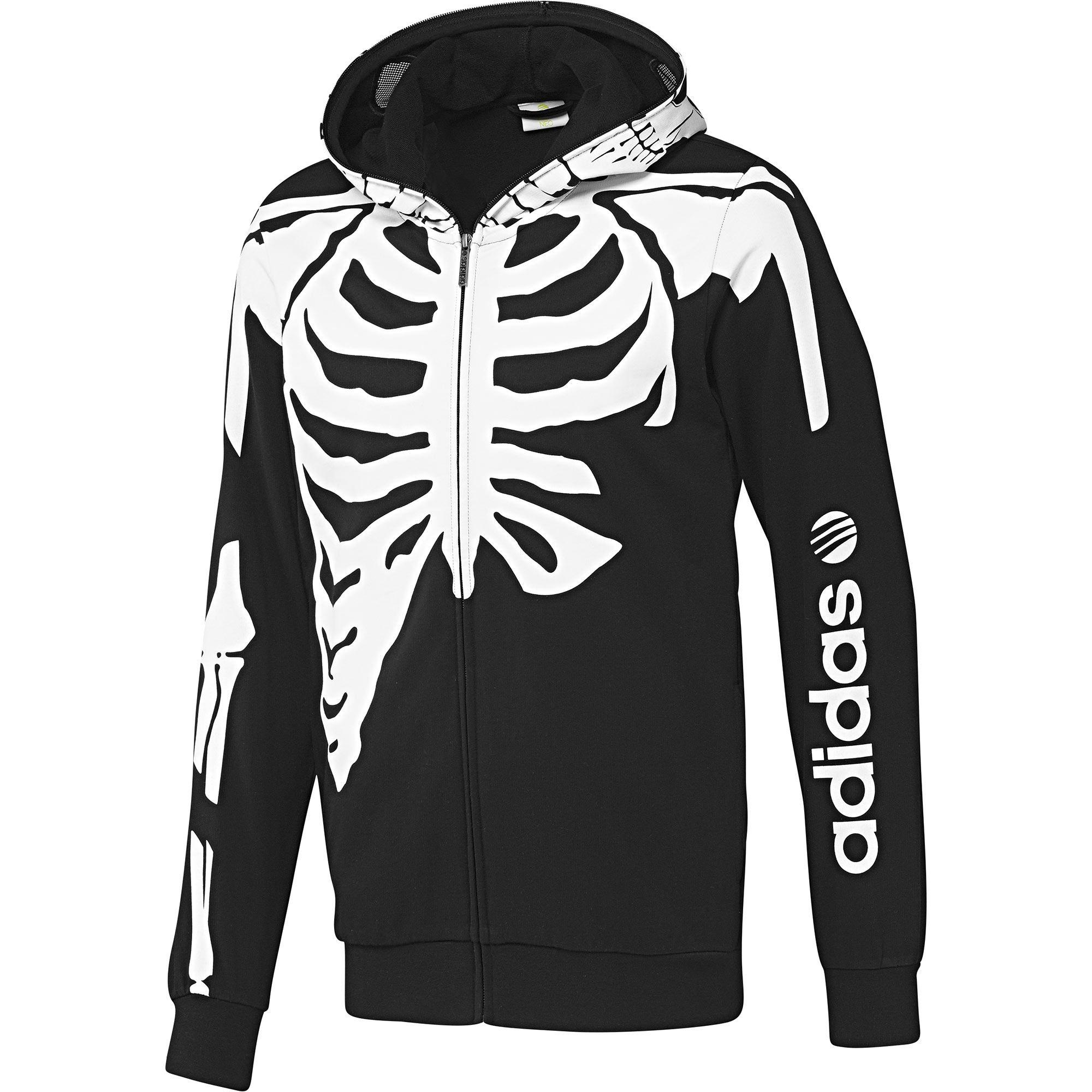 La capucha de esta camiseta con estampado de esqueleto para chico se puede  cerrar por completo con cremallera para mostrar una calavera. 1ae196bcf2dc8