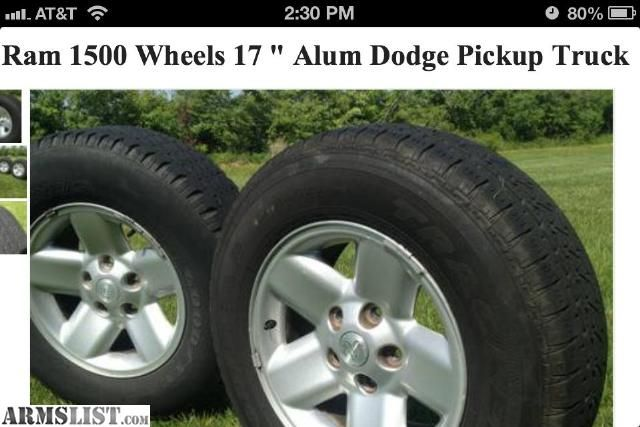 For Sale Trade Dodge Ram 1500 Wheels Tires Rims Alloy Pickup Truck Durango Goodyear Tires Dodge Pickup Dodge Ram 1500
