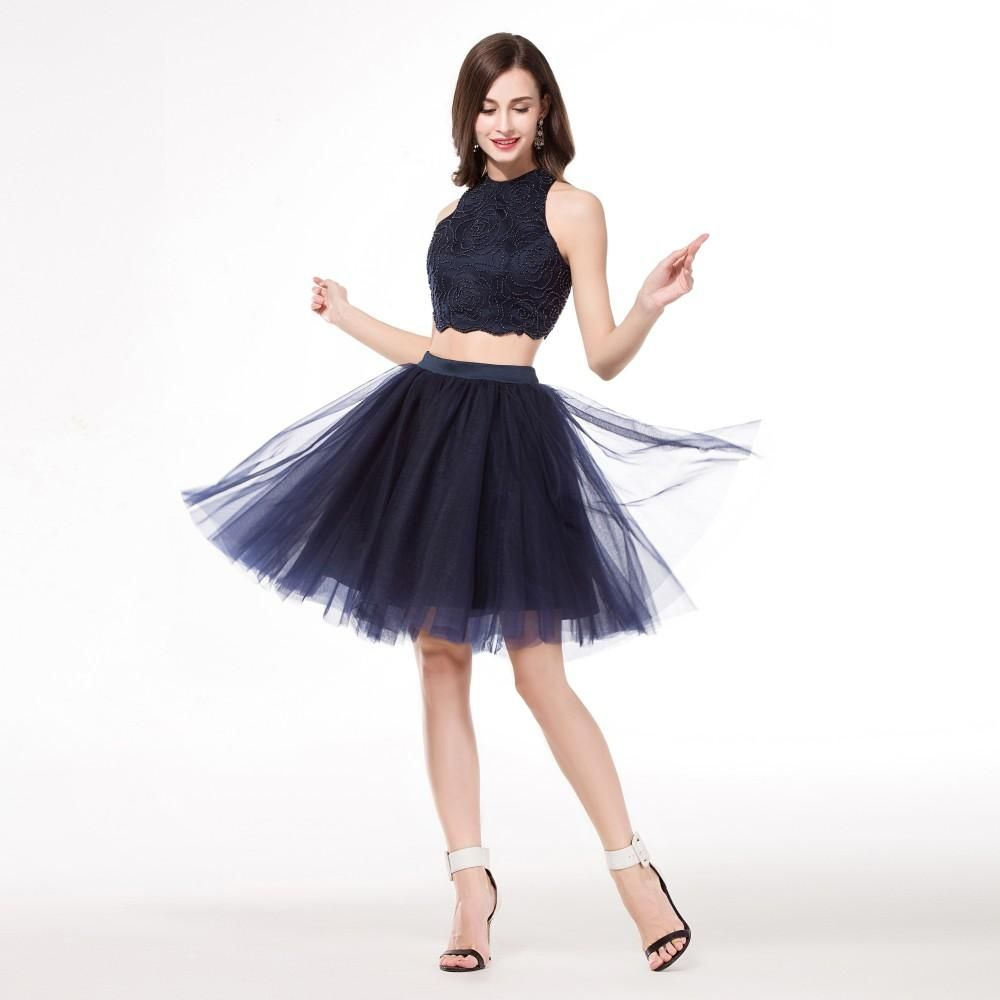 Homecoming Dresses Under 50 Dollars 2015 Real Image Navy Blue Two ...