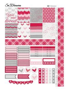 Free Valentines Day Planner Printable  Snstreasures  Printables
