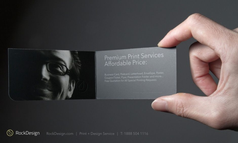 RockDesign.com | Style Business Cards | Folded Business Cards ...