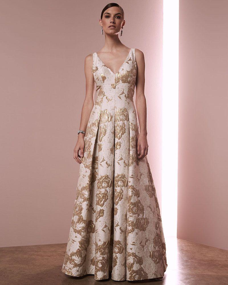 Aidan Mattox Sleeveless Floral Jacquard Gown | Aidan Mattox ...