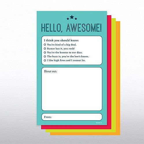 Onboarding Shout Out Pad Hello Awesome Peer Recognition Peer Recognition Board Employee Recognition Board