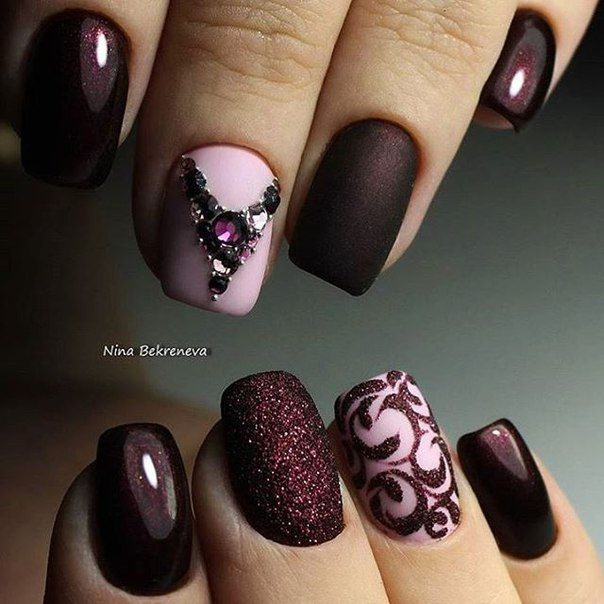 Маникюр | Видео уроки | Art Simple Nail. Burgundy ... - 15 Minion Nails That Are Anything But Despicable Make Up, Manicure