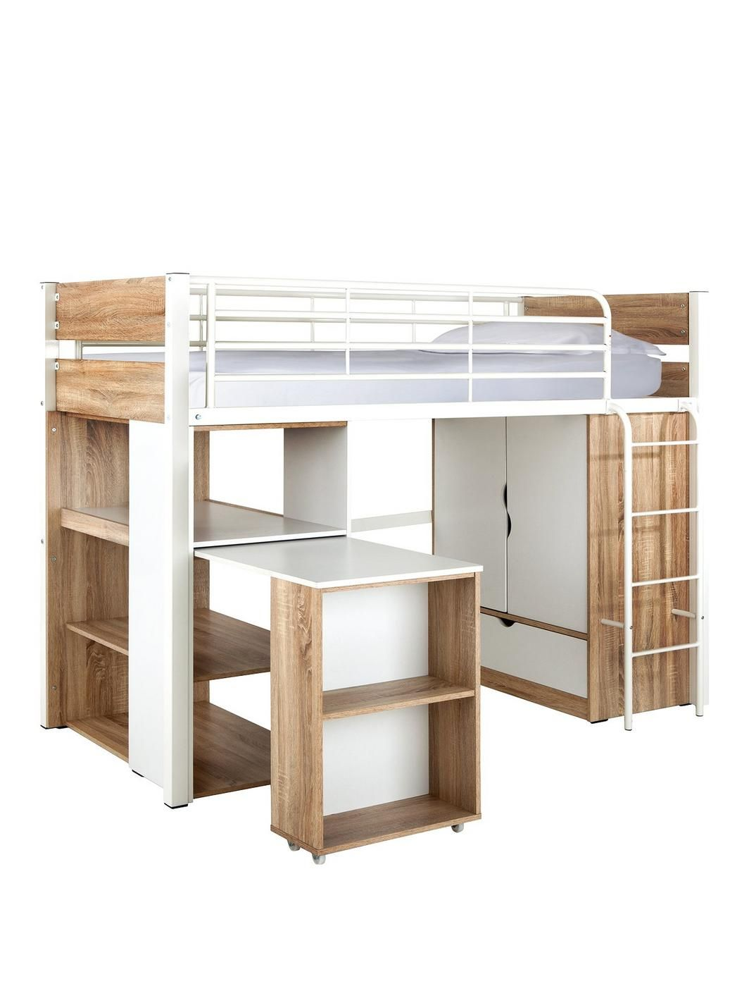 Oak loft bed with desk  Womens Mens and Kids Fashion Furniture Electricals u More  Kyles
