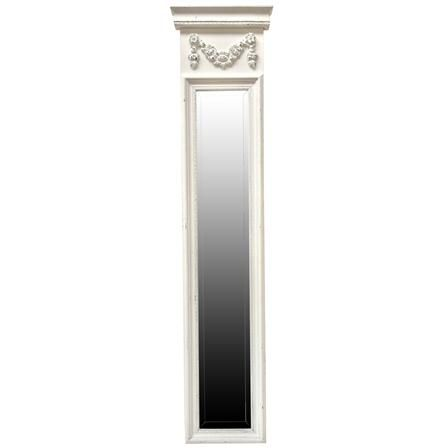 Alcove Mirror Antiqued White