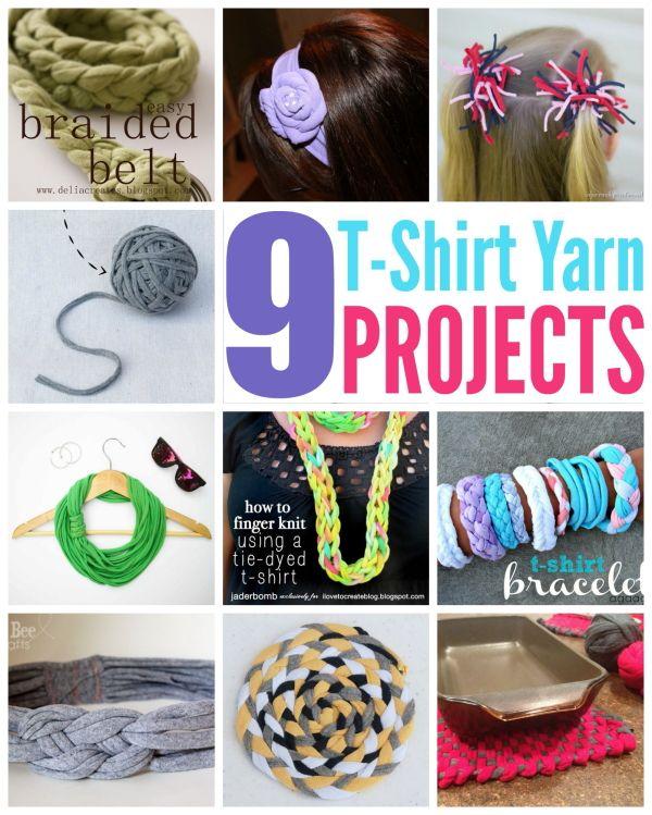 9 T-Shirt Yarn Project Ideas