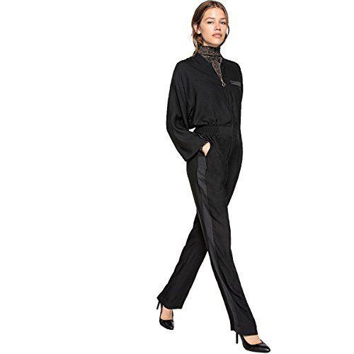 e7f156616f1e La Redoute Collections Womens Wide-Leg Zipped Jumpsuit