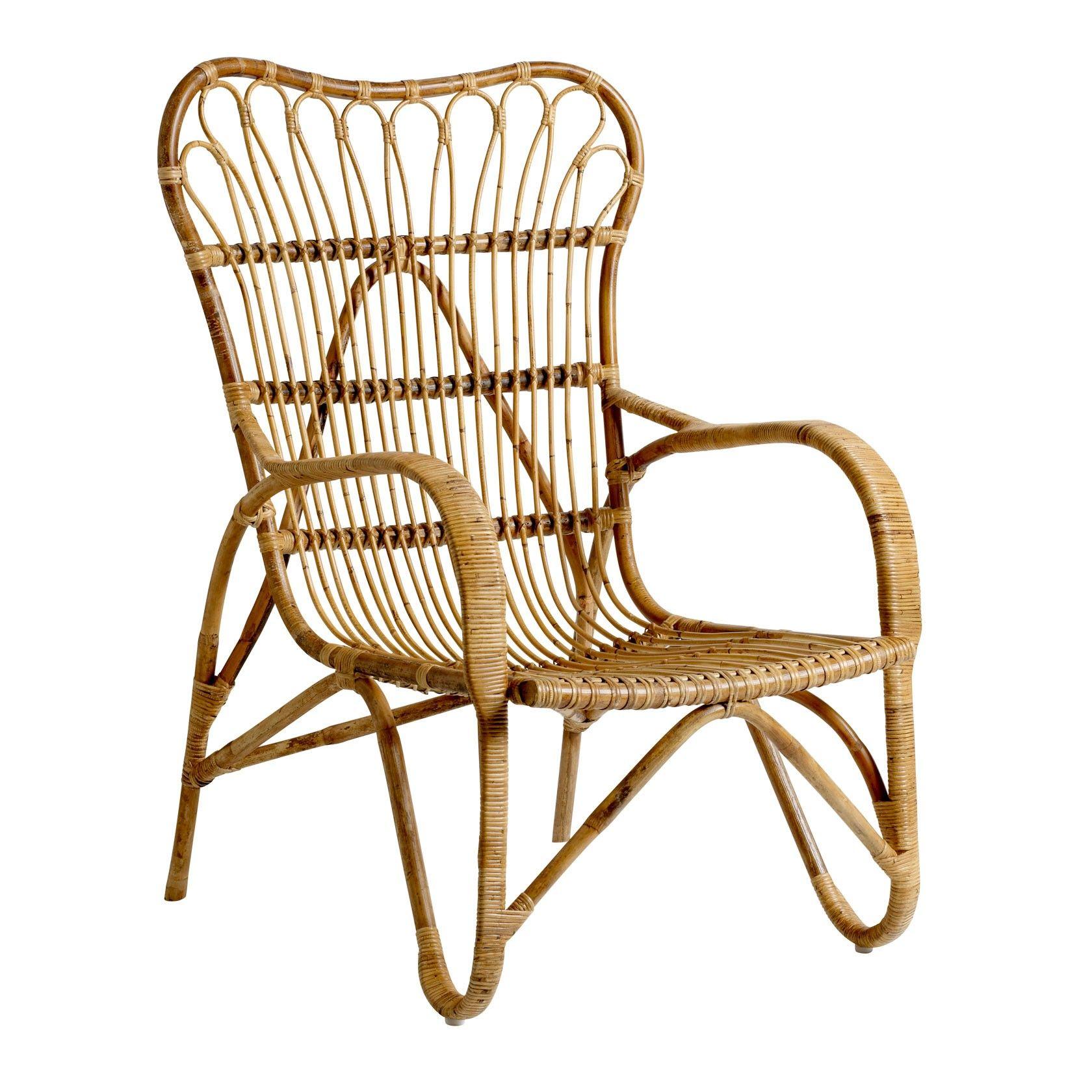 Bloomingville Rotan Stoel Mom Rattan Armchair Rattan Lounge Chair Rattan Chair