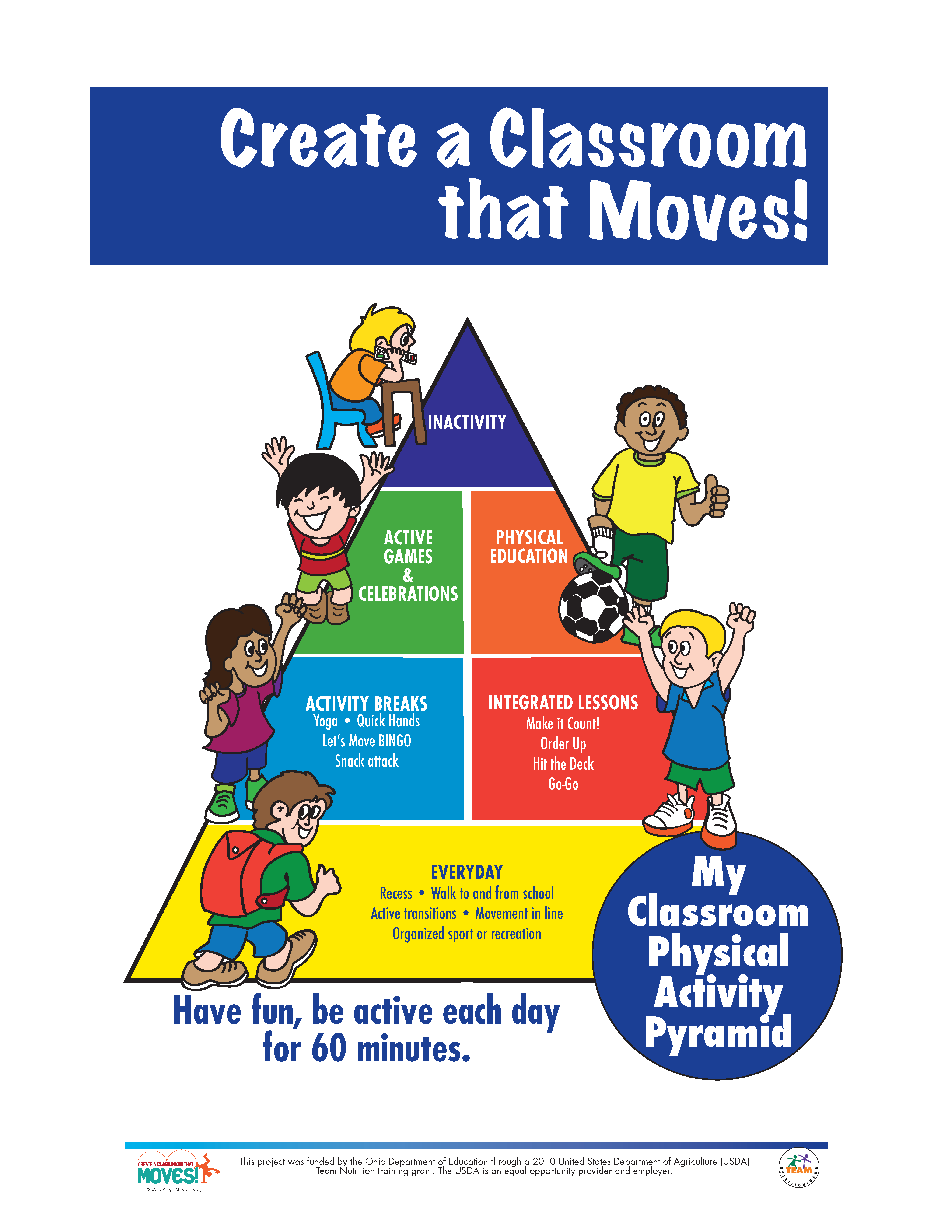 Activity Pyramid For Movement In The Classroom