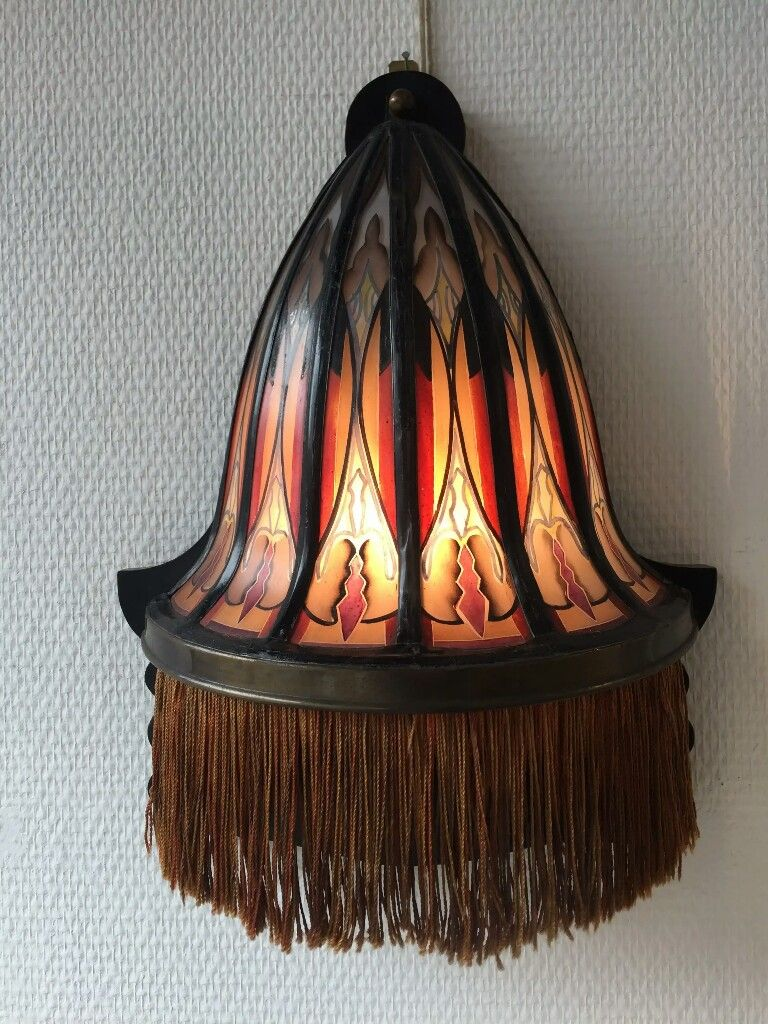 Wandlamp Met Gebrandschilderd Glas Art Deco Lampen Lampen En Licht Deco
