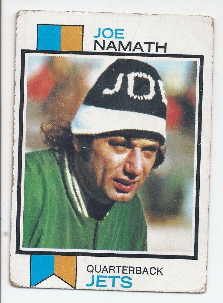 1973 joe namath football card nfl hall of famer