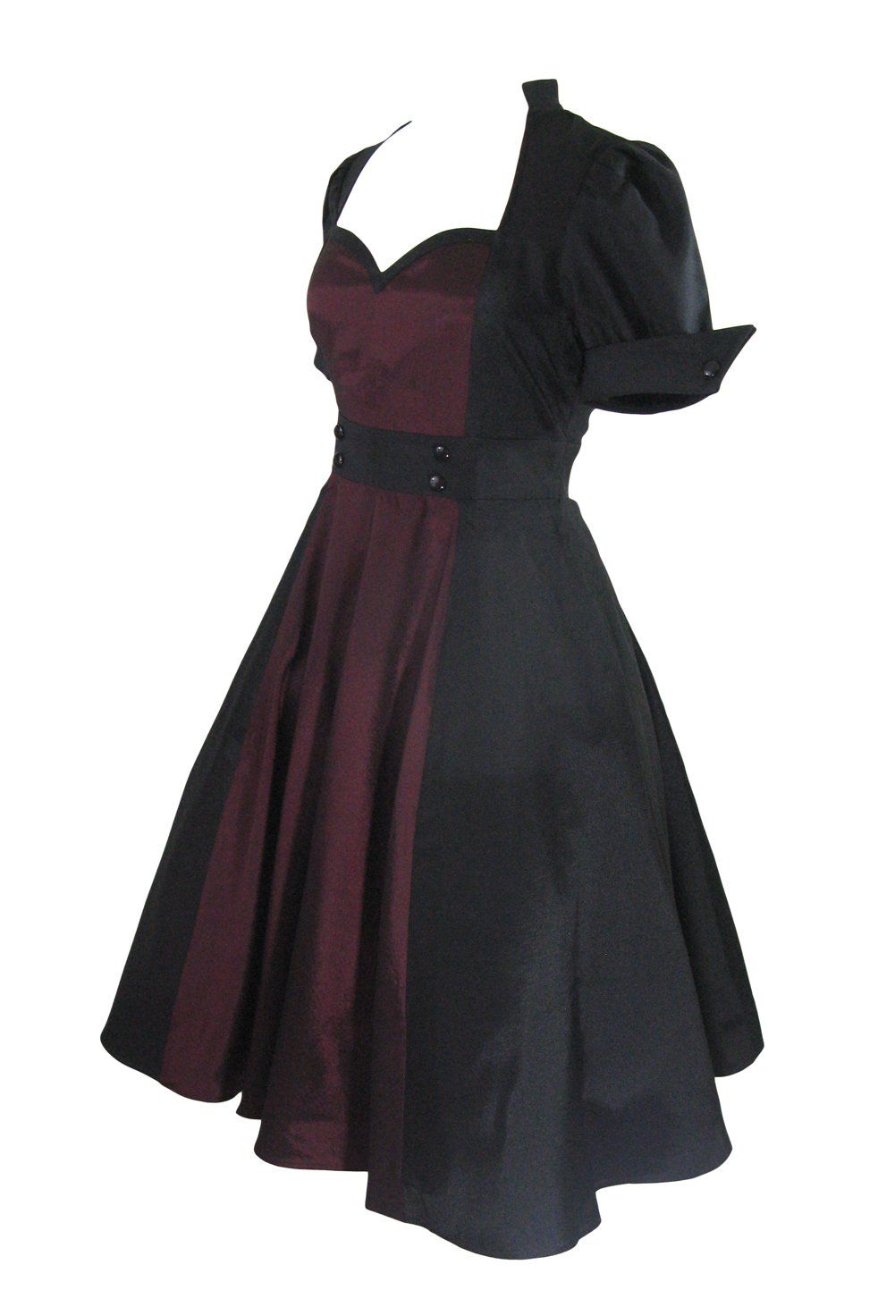 Plus size vintage 60s queen of hearts two tone black and burgundy plus size vintage 60s queen of hearts two tone black and burgundy satin dress 22w cute dresseslong prom ombrellifo Gallery