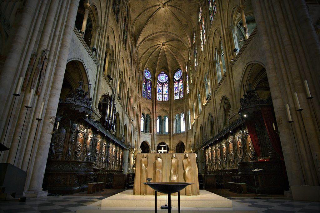 Paris Catedral Notre Dame Coro Altar Abside Notre Dame De Paris Cathédrale Cathédrale Dame
