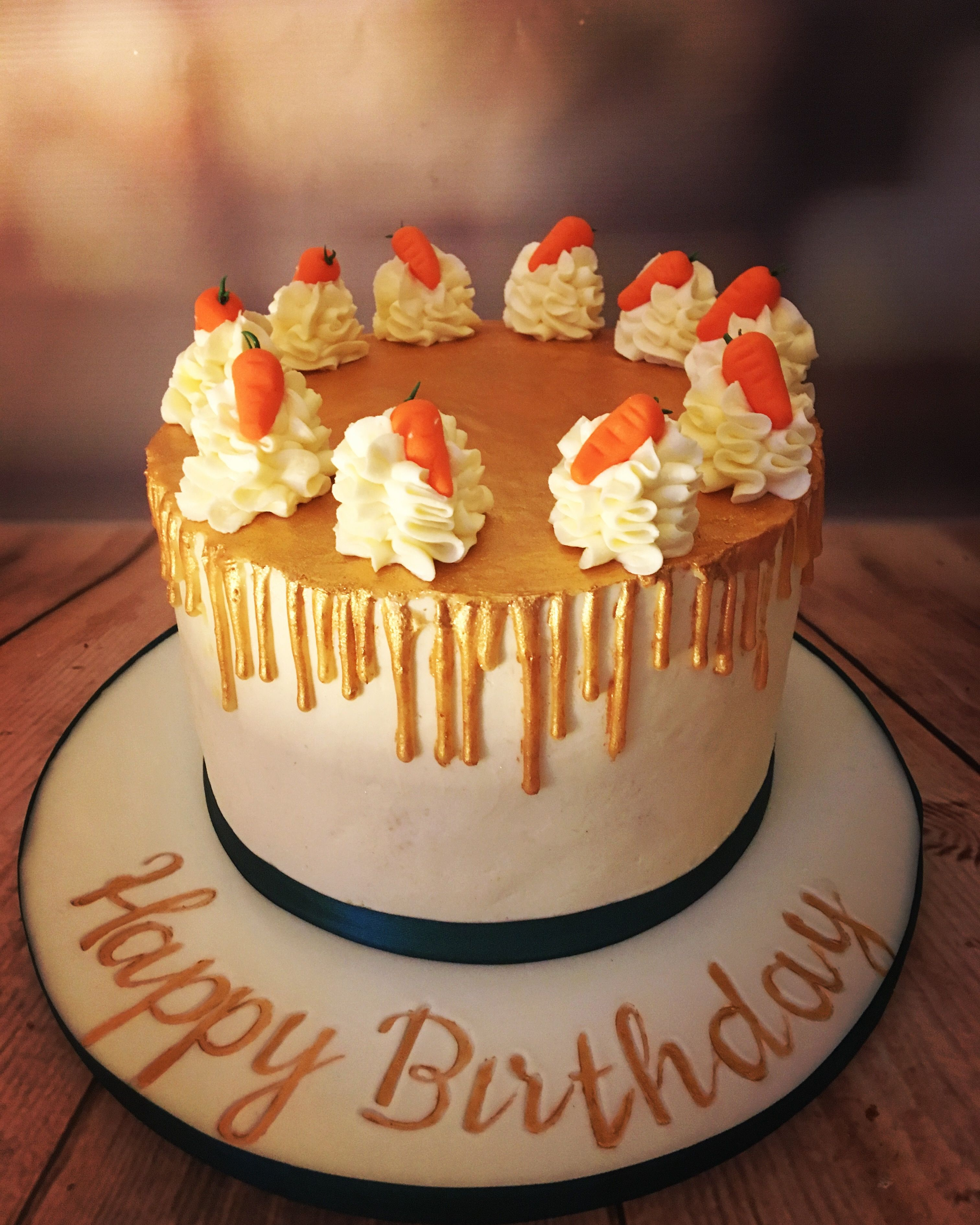 Carrot Cake With Gold Drip Fancy Carrot Cake Birthday Carrot