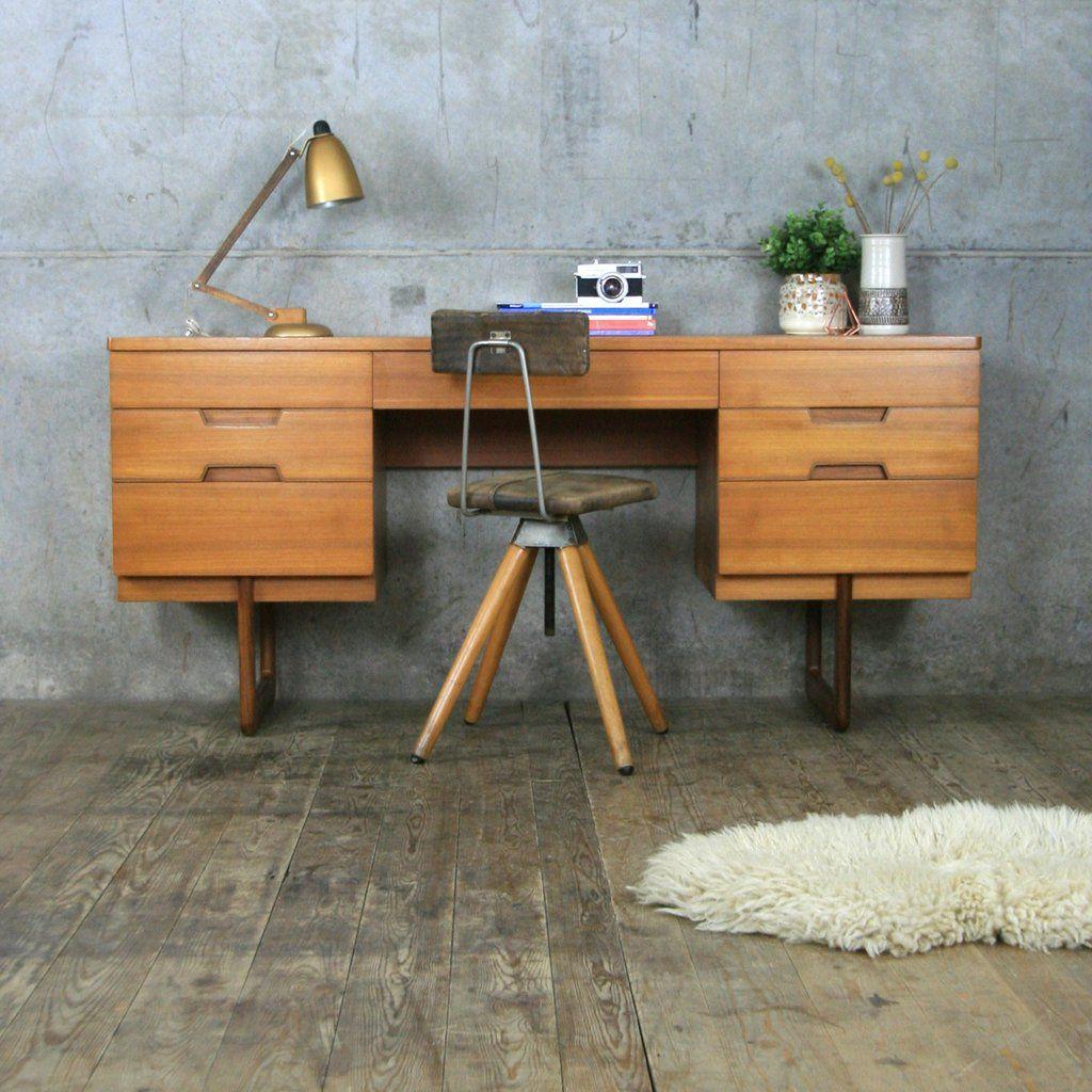 Mid Century Teak Uniflex Desk | Vintage mid century ...