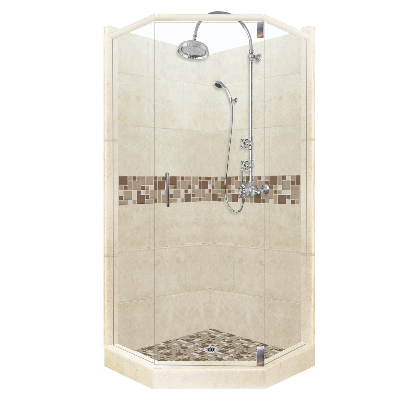 Mosaic Collection Neo Shower Kit in Desert Sand
