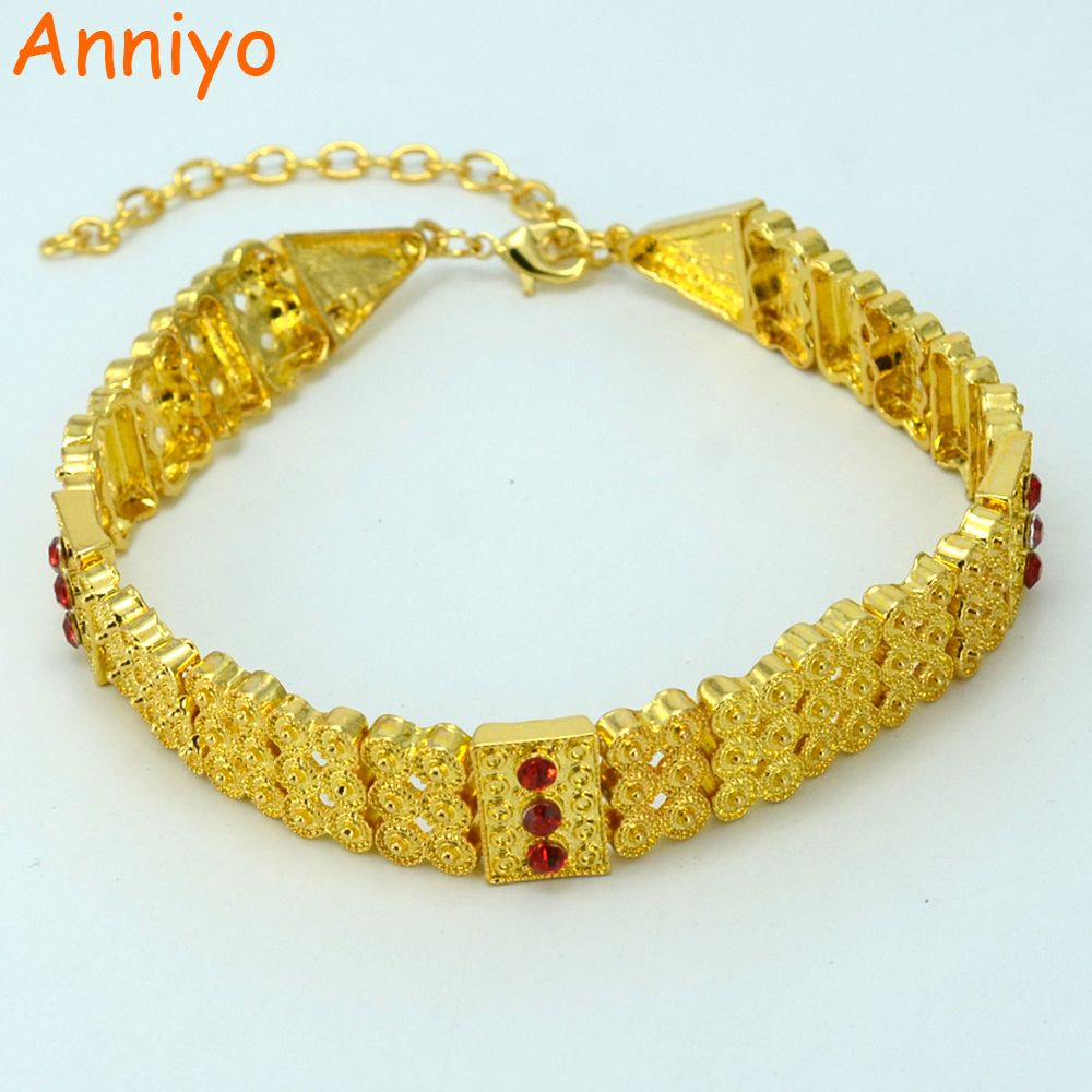 Anniyo Gold Color Ethiopian Traditional Chokers Necklace For Women