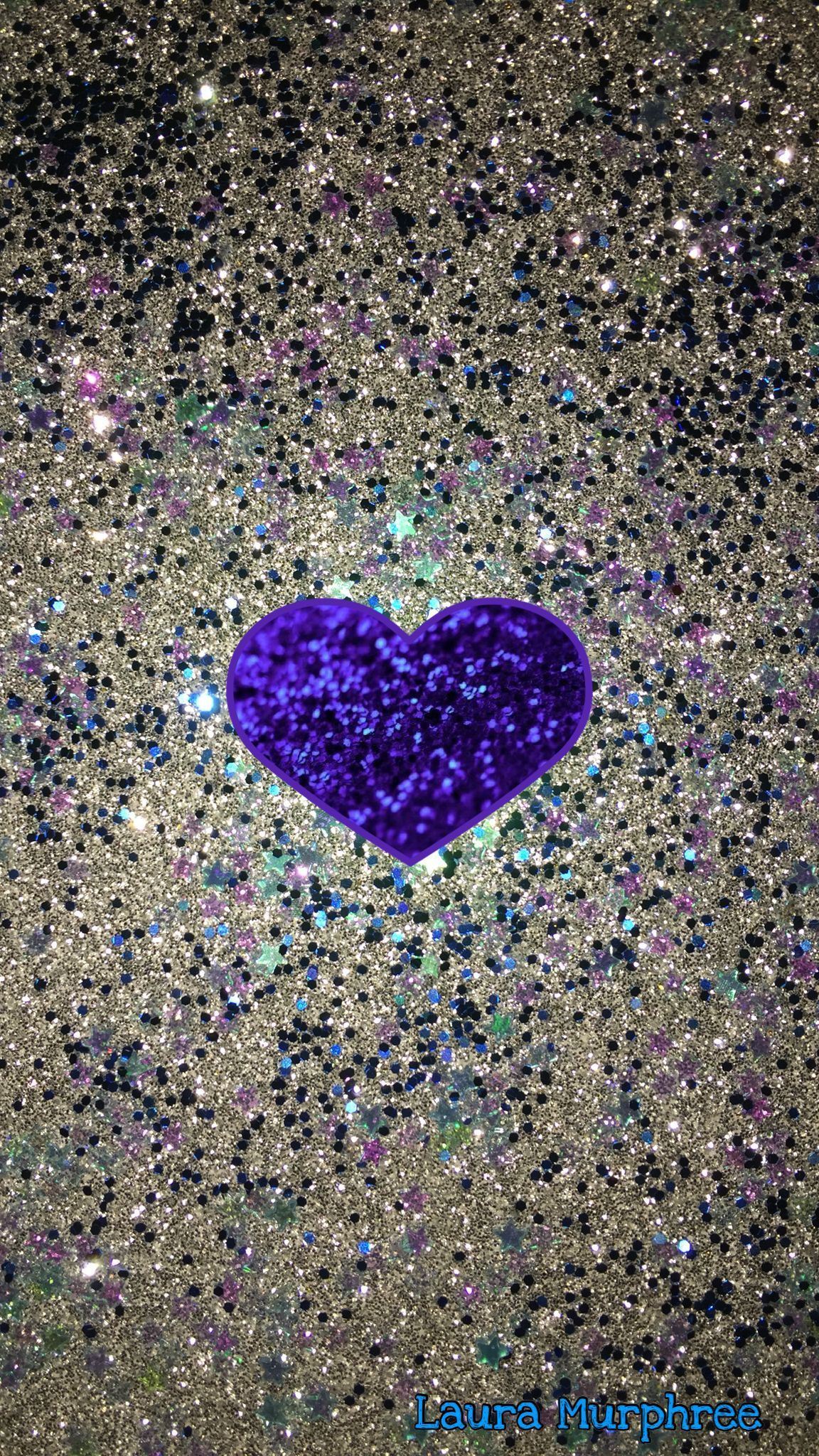 Glitter Behang Zilver Glitter Phone Wallpaper Glittery Heart Background Purple Silver