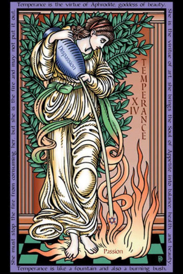 Xiv Temperance Balance Archangel Zadkiel: Tarot Of The Sevenfold Mystery By Robert
