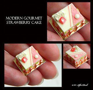 ••  Después Miniaturas oscuros: julio 2012.  MODERN GOURMET STRAWBERRY CAKE