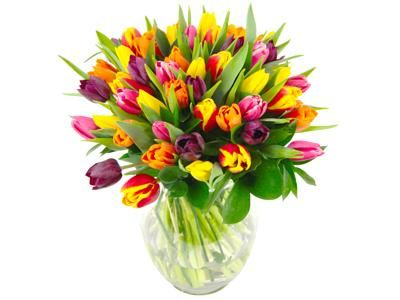 Mixed Tulips Fresh Flower Bouquet Colourful Tulips Delivered Direct To Your Door Fresh Flower Bouquets Beautiful Bouquet Of Flowers Flowers Delivered