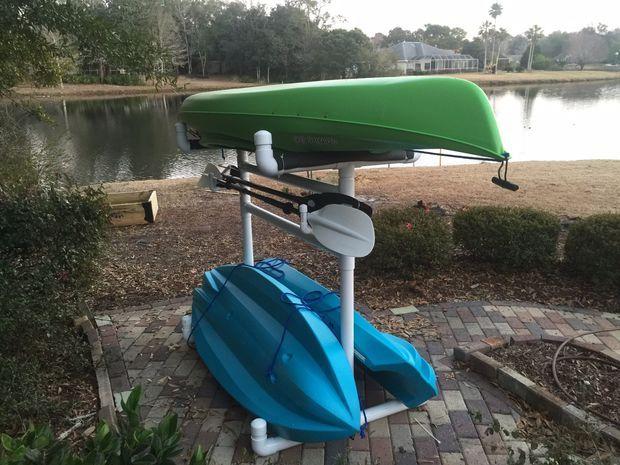 How To Make An Outdoor Kayak Storage Rack | Kayak Storage, Kayak Storage  Rack And Storage Rack