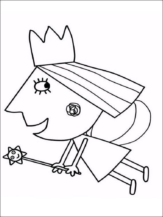 Desenhos para colorir e pintar O pequeno reino de Ben e Holly 6 ...