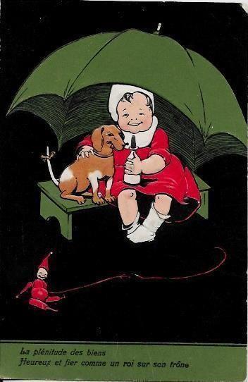 CPA chien dog teckel dackel dachshund non circulé gaufré • EUR 12,00