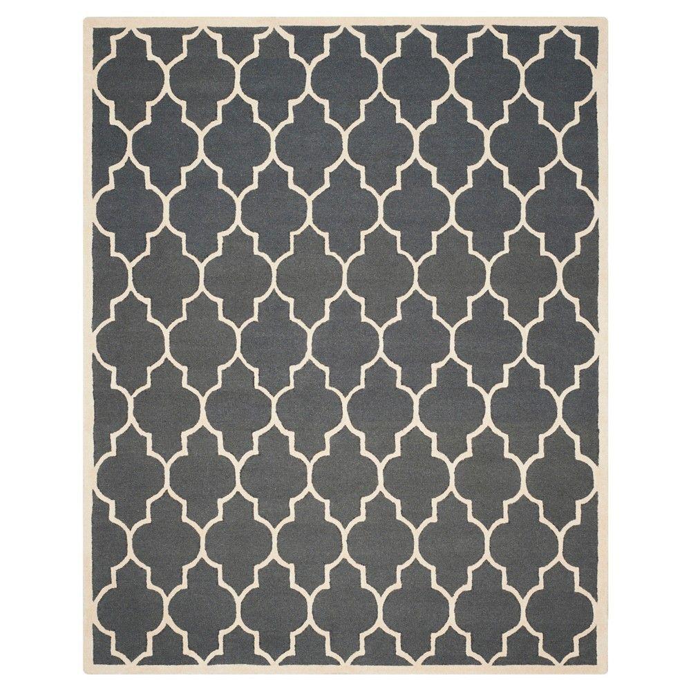 Safavieh Alexander Wool Textured Rug, Dark Grey/Ivory