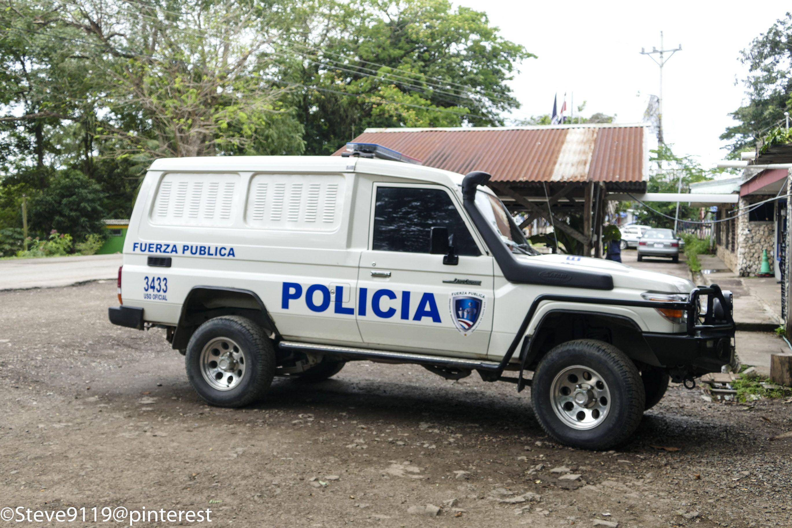 Policia Fuerza Publica Costa Rica Old Police Cars Police