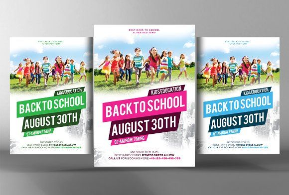 Back To School Flyer Template By Business Templates On