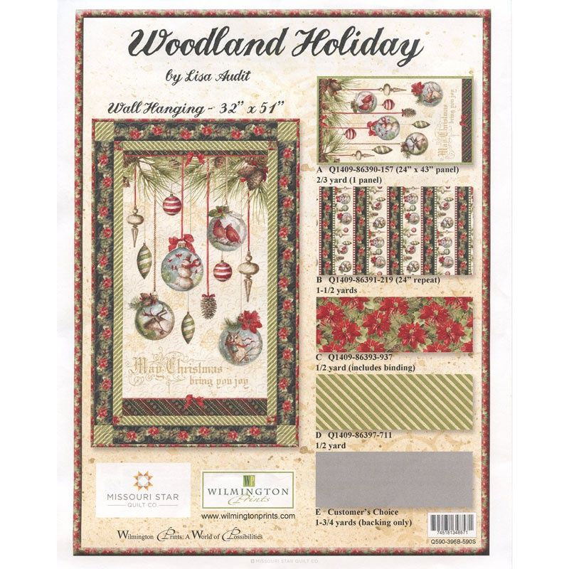 Woodland holiday quilt kit lisa audit wilmington prints missouri star quilt co