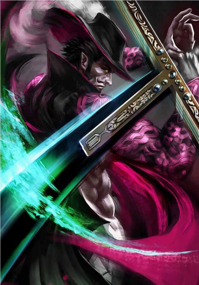 Dracule Mihawk Anime & Manga Poster Print metal posters