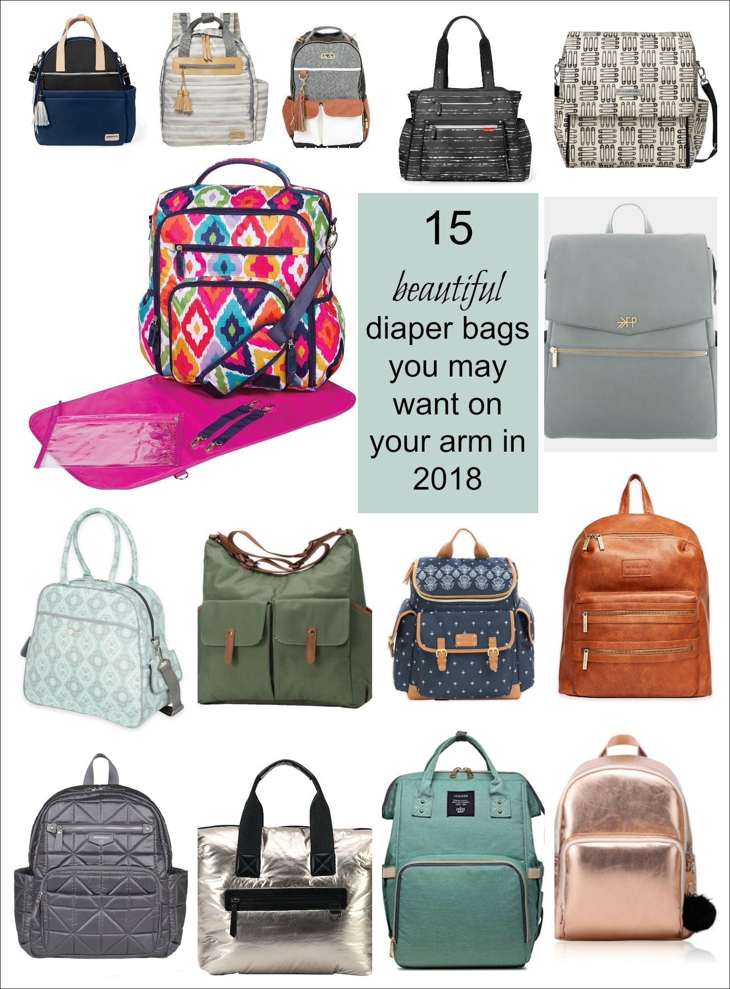 15 Beautiful Diaper Bags You May Want On Your Arm Finds