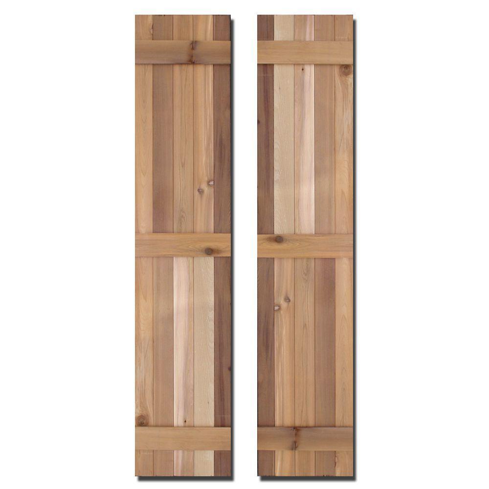 Design Craft Millworks 15 In X 80 In Natural Cedar Board N