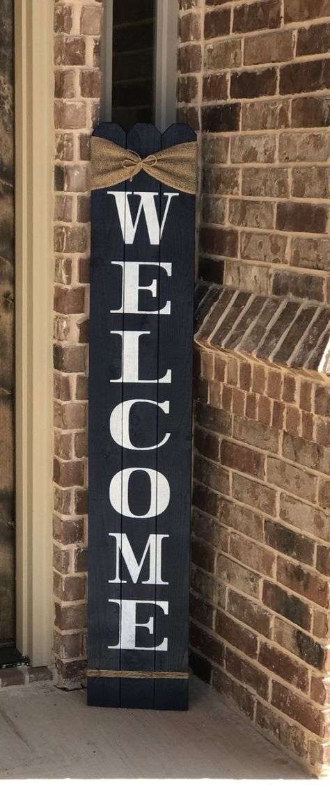 Rustic Welcome Sign 58 Tall Welcome Sign For Front Porch Front