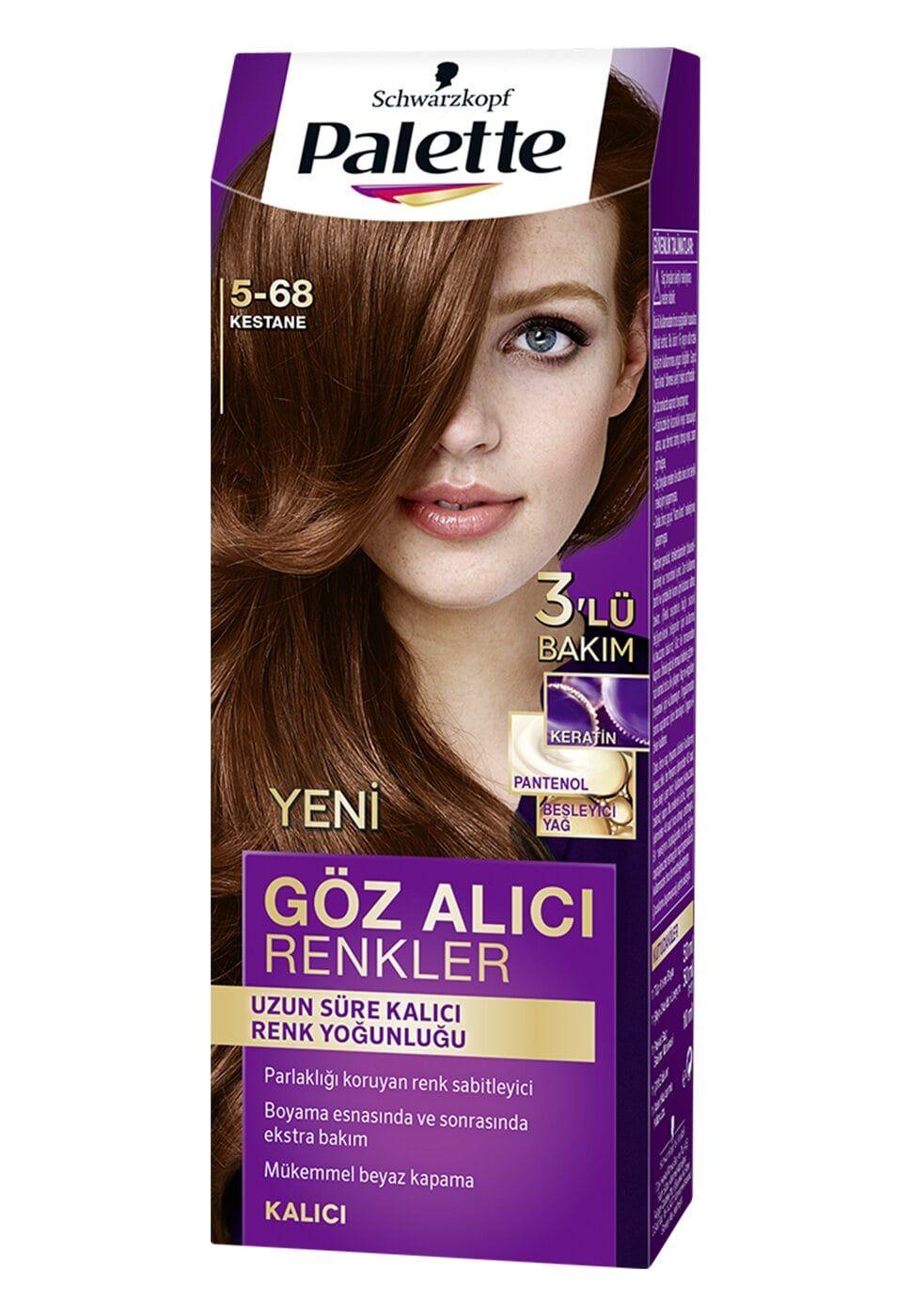 Schwarzkopf Palette Yogun Goz Alici Renkler Sac Boyasi 5 68 Kestane 2020 Sac Boyasi Sac Palet