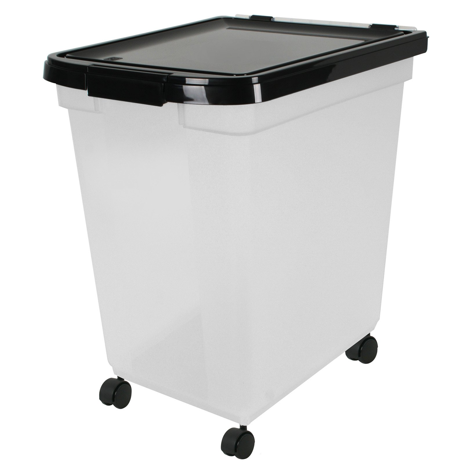Iris Usa 50 Lb Airtight Pet Food Storage Container With Casters