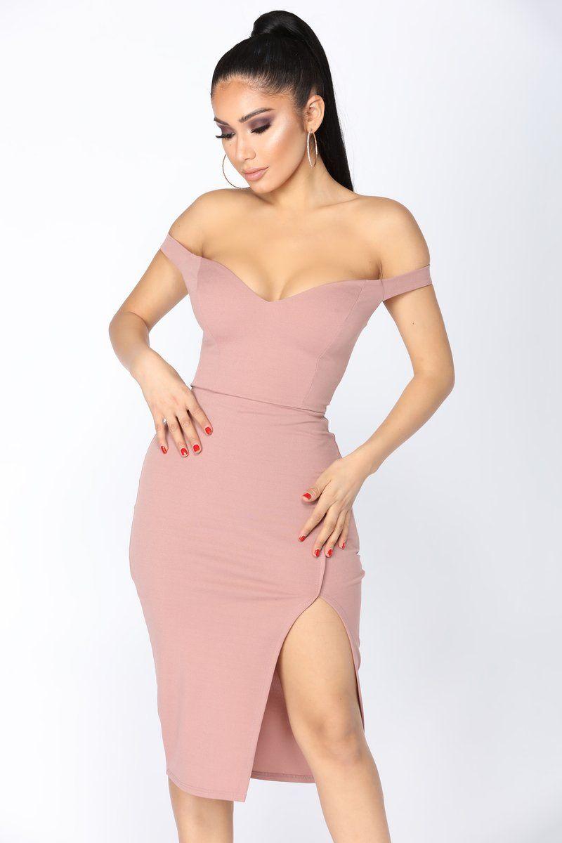 af71f4df41d85 Taliyah Off Shoulder Dress - Mauve